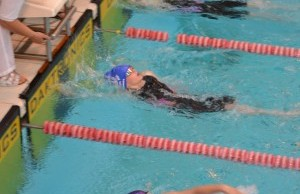 Wiltshire Sprints 2016 - 1st time attendee Alexandra Scutt, picked up silver in the 9 years backstroke