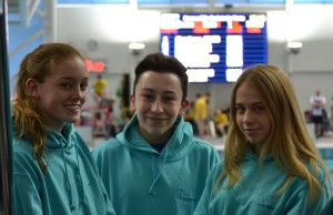 Our senior regional swimmers 2016, Emily Moore, Tomas Starsmeare-Ferris and Grace Steckerl