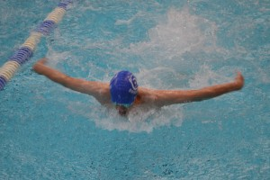 Wiltshire Sprints 2016 - Tyler Checchia in full flow on his way to Gold in the 13 years butterfly, he took gold in all 4 strokes