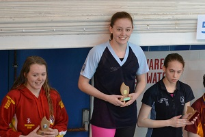 Wiltshire Sprints 2017 - Emily Moore Open breaststroke champion, 1 gold, 3 silver