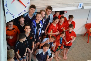 Wiltshire Sprints 2017 - Junior Medley Relay Winners collect medals