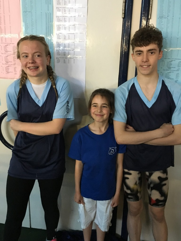 Caitlin, Molly and Tyler at Millfield