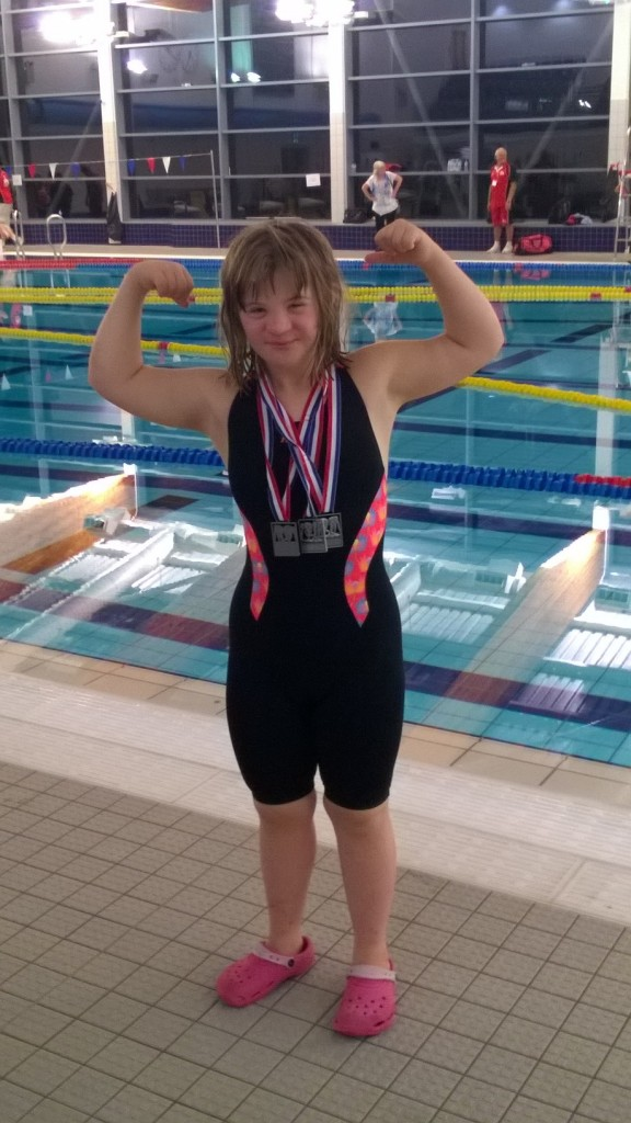 Holly with her medals from the DSISO British Nationals